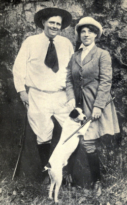 Jack et Charmian London, à Glen Ellen, 1916