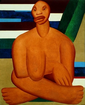 """La négresse"", Tarsila do Amaral, 1923"